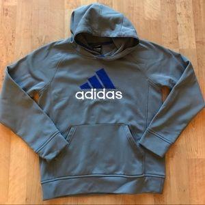 Boys Adidas climawarm hoodie size L 14/16 Grey